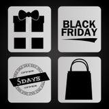 Schwarzes Freitag-Design Stockfoto