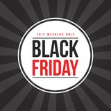 Schwarzes Freitag-Verkaufsfahnendesign Lizenzfreies Stockbild