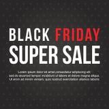 Schwarzes Freitag-Verkaufsfahnendesign Stockfoto