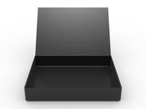 Schwarzes geöffneter Kasten lizenzfreie abbildung