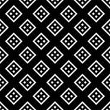 Schwarzes GEOMETRISCHES nahtloses Muster im weißen Hintergrund stock abbildung