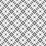Schwarzes GEOMETRISCHES nahtloses Muster im weißen Hintergrund Stockfotos