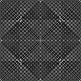 Schwarzes GEOMETRISCHES nahtloses Muster im weißen Hintergrund Lizenzfreies Stockfoto