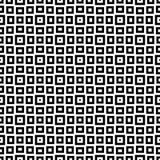 Schwarzes GEOMETRISCHES nahtloses Muster im weißen Hintergrund Stockbilder