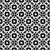 Schwarzes GEOMETRISCHES nahtloses Muster im weißen Hintergrund Lizenzfreie Stockbilder
