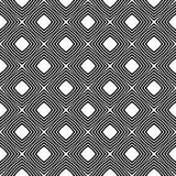 Schwarzes GEOMETRISCHES nahtloses Muster im weißen Hintergrund Lizenzfreies Stockbild