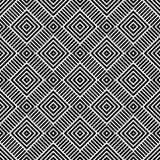 Schwarzes GEOMETRISCHES nahtloses Muster im weißen Hintergrund Stockbild