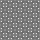 Schwarzes GEOMETRISCHES nahtloses Muster im weißen Hintergrund Lizenzfreie Stockfotos