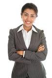 Schwarzes Geschäftsfrauporträt stockfotos