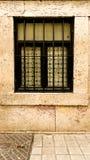 Schwarzes gestaltete eingezäuntes Fenster Stockbilder