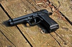 Schwarzes Gewehr 9mm Lizenzfreies Stockbild