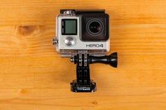 Schwarzes GoPro-Held-4 Stockbild