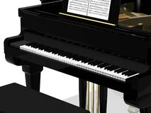 Schwarzes großartiges Klavier Stockfoto