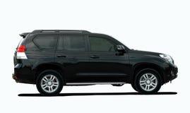 Schwarzes großes SUV Lizenzfreie Stockbilder