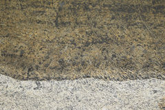 Schwarzes Grundwasser und Boden Stockfoto