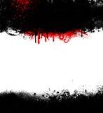 Schwarzes Grunge Goth Feld mit Blut Lizenzfreie Stockbilder