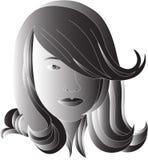 Schwarzes Haar Vektor Abbildung