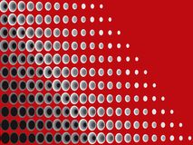 Schwarzes Halbtongrau auf Rot Stockbild