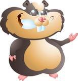 Schwarzes Hamsterdarstellen Lizenzfreies Stockfoto