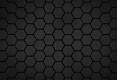Schwarzes Hexagonmuster - Bienenwabenkonzept lizenzfreie abbildung