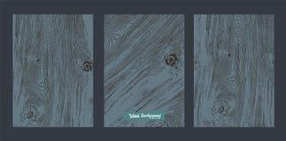 Schwarzes Holz des Vektors lizenzfreies stockbild