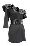 Schwarzes Jersey-Kleid, Ausschnittspfad Stockbild