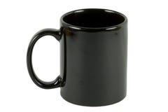 Schwarzes Kaffeetassealpha Stockfotos