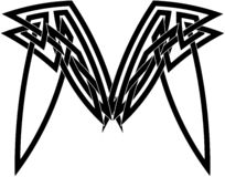 Schwarzes keltisches Knotenmuster Stockbilder