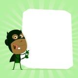 Schwarzes Kind-Superheld-Zeichen Stockfoto