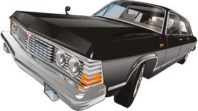 Schwarzes klassisches Auto stock abbildung