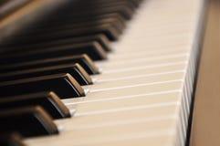 Schwarzes Klavier Lizenzfreies Stockbild