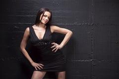 Schwarzes Kleid Stockbild