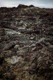 Schwarzes Lava-Feld Stockbild
