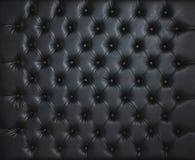 SCHWARZES LEDER AUFGEFÜLLTER VERZIERTER LUXUShintergrund Stockbilder