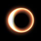 Schwarzes Loch Abbildung auf schwarzem Hintergrund für Auslegung leuchte Auch im corel abgehobenen Betrag Stockbilder