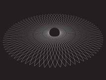 Schwarzes Loch Abstrakter vektorhintergrund lizenzfreie abbildung