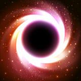 Schwarzes Loch in dem galaktischen Zentrum Raumvektor Stockbild