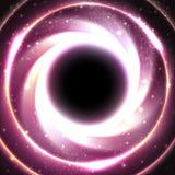 Schwarzes Loch in dem galaktischen Zentrum Raumvektor Lizenzfreies Stockbild