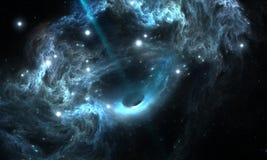 Schwarzes Loch im Nebelfleck Stockfoto