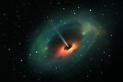 Schwarzes Loch im Weltraum Stockfoto