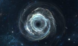 Schwarzes Loch im Weltraum Stockbilder