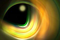 Schwarzes Loch mit Planeten Stockbild