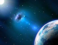 Schwarzes Loch nahe der Erde Stockfotografie