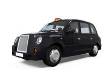 Schwarzes London-Taxi Stockbild