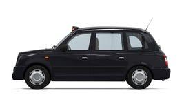 Schwarzes London-Taxi Lizenzfreie Stockbilder