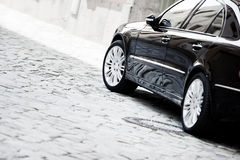 Schwarzes Luxuxauto Lizenzfreies Stockbild