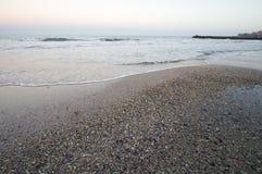 Schwarzes Meer im Dezember Stockbild