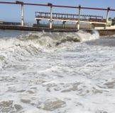Schwarzes Meer Natürliche Beschaffenheit für Auslegunggestaltungsarbeit Sochi Stockfoto