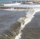 Schwarzes Meer Natürliche Beschaffenheit für Auslegunggestaltungsarbeit Sochi Stockbilder