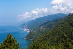 Schwarzes Meer stützt die Nordtürkei ab Stockfoto